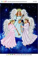 """Схема для вышивки бисером """"Рождественские ангелы (част.выш.)"""""""