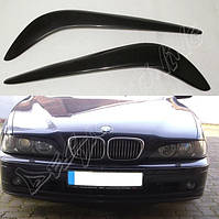 РЕСНИЧКИ (НАКЛАДКИ НА ФАРЫ) BMW E39 СТЕКЛОВОЛОКНО