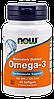 NOW Omega - 3, 100 softgels