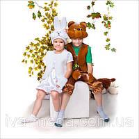 Детские новогодние костюмы Белый и коричневый мишки !