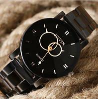 Часы женские с эффектными стрелками кругами 30 мм