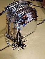 Рюкзак женский трансформер Серебро глянец D.N.S: 00000121