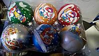 Новогодняя игрушка  шары с собакой (диаметр 80)