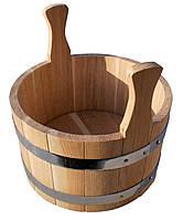 Ковш дубовой для бани и сауны дубовая шайка 7 литров.