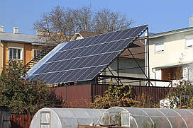 """Сетевая солнечная электростанция 10 кВт под """"зеленый тариф"""""""