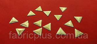 """Термоаппликация  """"Треугольник""""  (14 мм), золото"""