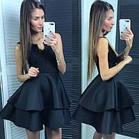 Стильное короткое платье с пышной юбкой