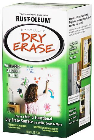 Маркерная краска (маркерное покрытие) Rust-Oleum Dry Erase Белая 4,4кв.м., фото 2