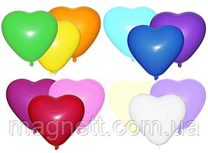 Шар 6 сердце пастель Разные цвета (100 шт)
