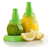 Спрей соковыжималка для цитрусовых, лимонов, 2 насадки+подставка