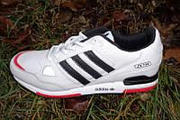 Мужские кроссовки Adidas ZX 750 White/Black из натуральной кожи , осень