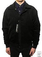 Мужская короткая демисезонная куртка черная АС Италия р. XL