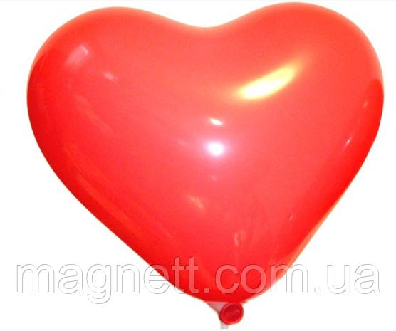 Шар 6 сердце пастель Красное (100 шт)