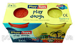 Масса для лепки, пластилиновая масса Play-Toys 2 цвета х 100 гр
