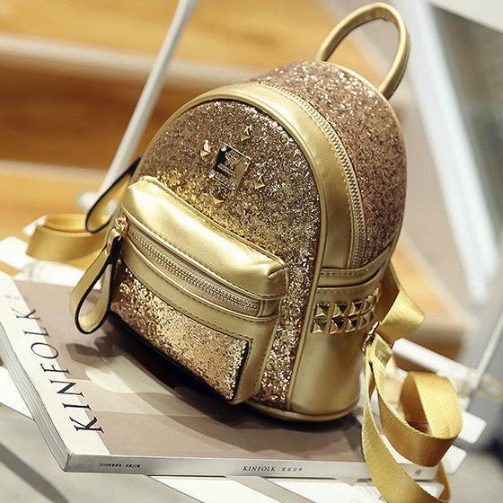 блестящий женский рюкзак
