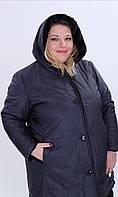 Куртка женская двухсторонняя, с капюшоном большого размера Loft