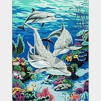"""Картина по номерам """"Дельфины"""" G046 (40*50 см)"""