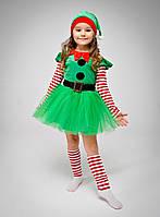 Карнавальный костюм Рождественский Эльф для девочки