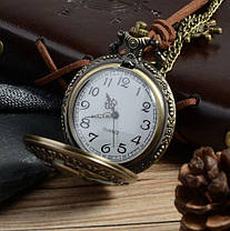 Карманные мужские часы на цепочке оберег викингов, фото 3