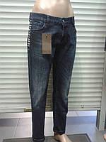 Женские джинсы бойфренд с аппликацией