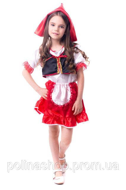 """Дитячий карнавальний костюм для дівчинки """"Червона Шапочка"""""""