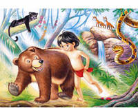 "Пазлы Castorland 60 эл., ""Книга джунглей"", 724"