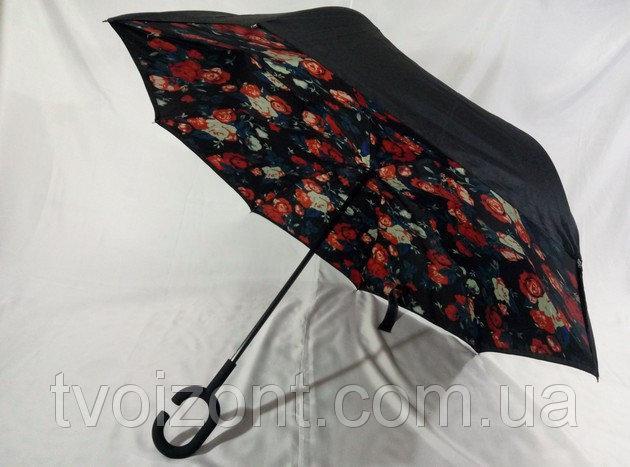 Новинка зонты обратного сложения Smart с красочными узорами под куполом