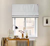Римская штора лён 09 - 02 Светло Серый 800*1700 изготовим по вашим замерам