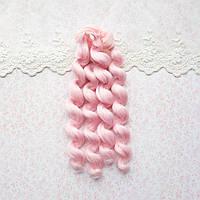 Волосы для кукол кудри в трессах, светло-розовые - 15 см