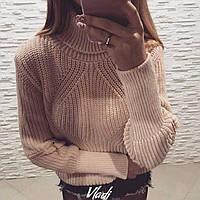 Женский вязанный свитер,на локтях молнии,очень красивый и стильный!Новинка