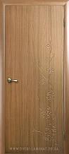 Сакура - Золотая ольха (60, 70, 80, 90см). Коллекция Колори DeLuxe. Межкомнатные двери Новый Стиль