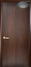 Сакура - Каштан (60, 70, 80, 90см). Коллекция Колори Deluxe. Межкомнатные двери Новый Стиль