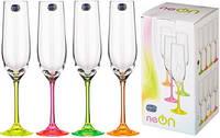 Набор бокалов для шампанского Boh.Neon Frozen.190 мл.-4 шт. 168814