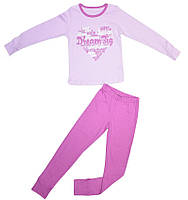 Пижама для девочки розовая размер 122 128 134 140