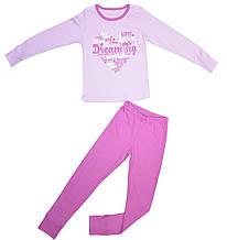 Пижама для девочки розовая размер 122 128 134