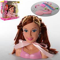 КуклаDEFA голова для причесок, 17 см, расческа, аксессуары, в коробке 28-27-11 см,8056
