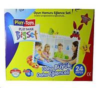 Масса для лепки, пластилиновая масса Play-Toys 6 цветов х 80 гр, формочки