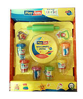 Масса для лепки, пластилиновая масса Play-Toys 6 цветов х 50 гр, формочки