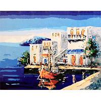 """Картина по номерам """"Побережье в Греции"""" G305 (40*50 см)"""