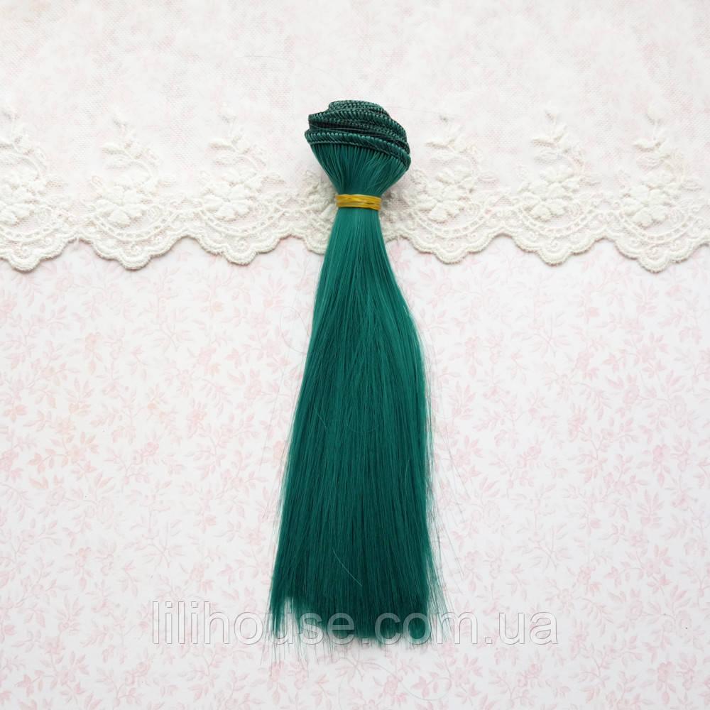 Волосы для кукол в трессах, ярко-зеленые - 15 см