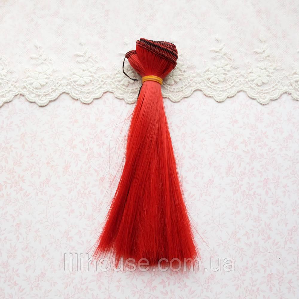 Волосы для кукол в трессах, ярко-красные - 15 см