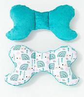 Подушка – позиционер детская ТМ BabySoon Мятные ежики 32 х 24 см цвет бирюзовый и молочный