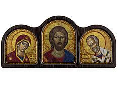 Набордля вышивания бисером Триптих Богородица, Спаситель, Николай Чудотворец СЕ6005