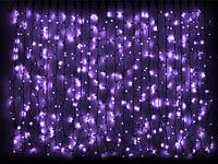 Гирлянда светодиодная наружная Curtain  456LED 2x1,5м  фиолетовый/черный IP44 Delux