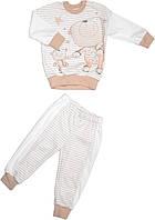 Пижама для мальчика бежевая размер 86 92 98 104