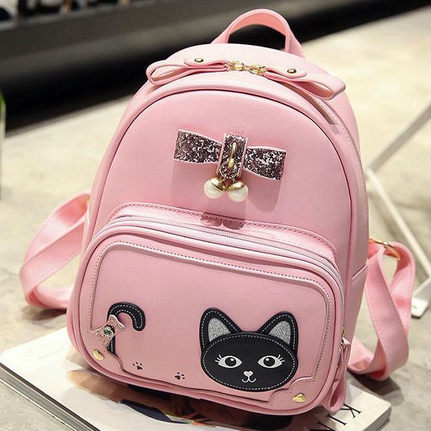 5adfedd453d4 Женский мини рюкзак с котом на кармане - Интернет-магазин Mak-Shop в Днепре