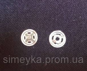 Кнопки пластиковые пришивные белые прозрачные, диаметр 7 мм, упаковка 36 шт.