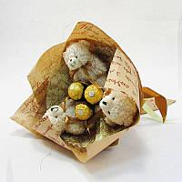 Букет из игрушек Мишки лохматые с Фереро роше Крафт