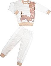 Пижама для мальчика бежевая размер 110 116 128