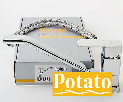 Смеситель для кухни POTATO P4906, фото 2
